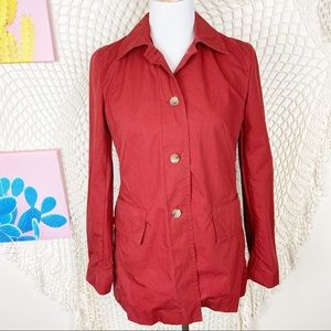 Banana republic red utility button front jacket S